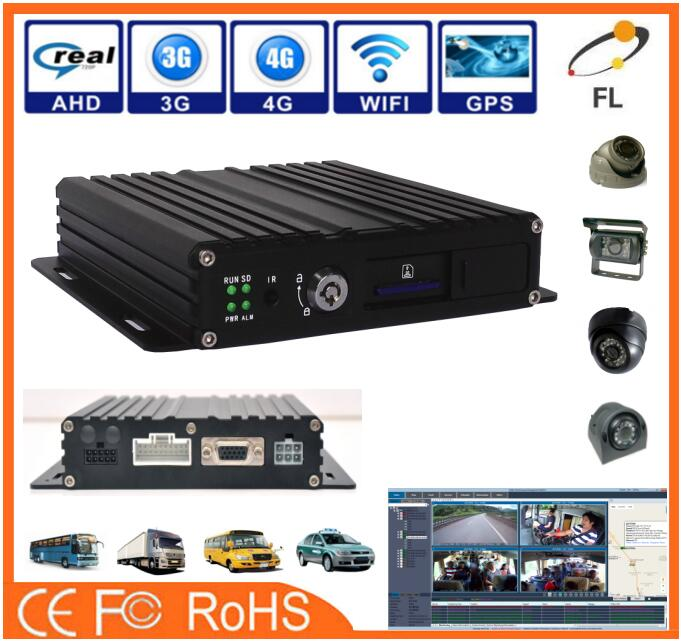Economical SD Card 4 channels 8ch car mobile dvr of CE Standard