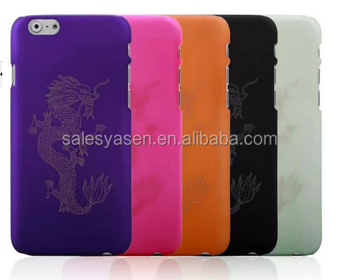 High quality new dragon decal ultra thin PC case for iPhone 6