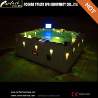 2016 New design!!Family size hot tub outdoor spa with pop-up TV