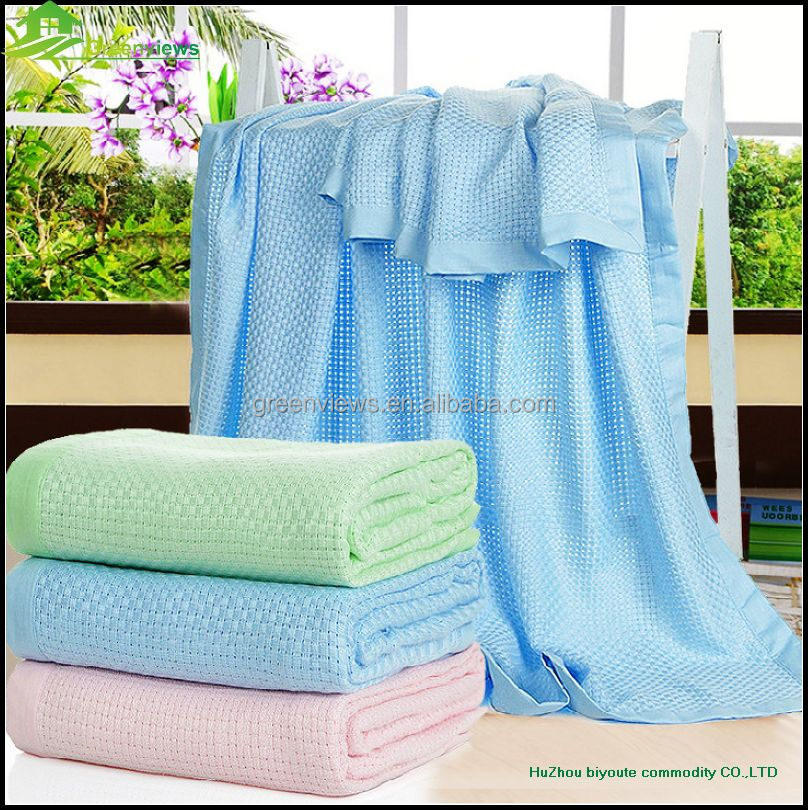 Bamboo fiber swaddle knitted blanket wholesale blanket types china factory
