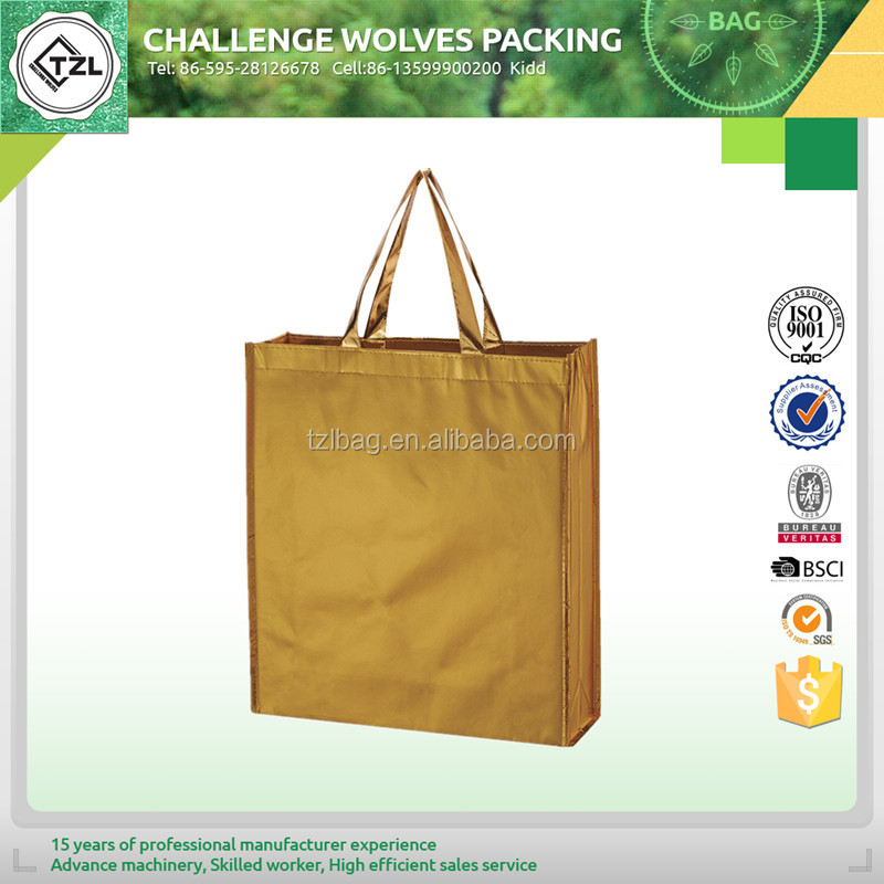 Recycled shopping bag trolley nonwoven pp non woven shopping bag
