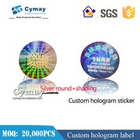 Custom hologram genuine guaranteed sticker,custom laser sticker labels