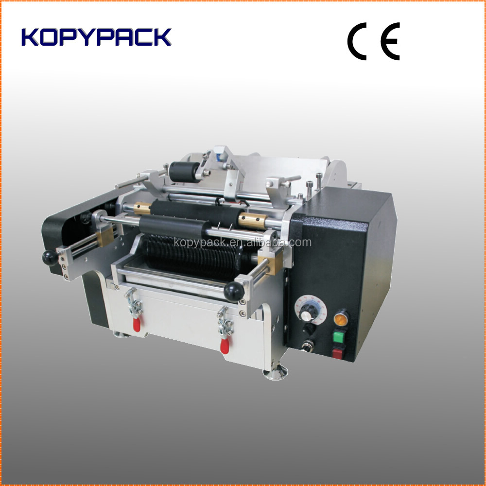 81100 Manual Wet Glue Round jars Labeling Machine with Paper label