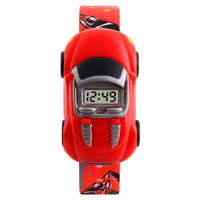 Skmei watch wrist new fashion cute car toy boys and girls electronic watch student watch supplier