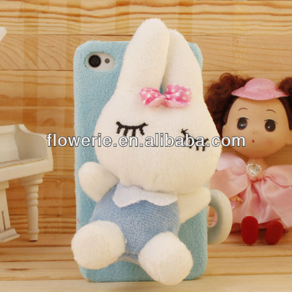 FL2859 2013 Guangzhou hot selling lovely rabbit doll phone case cover for iphone 5