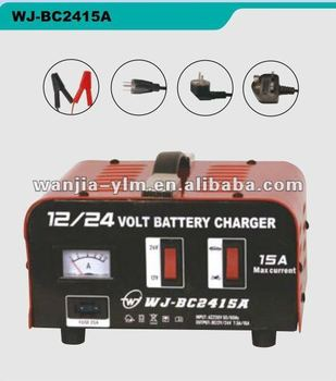 WJ-BC2415A 12V/24V 15A battery charger,CE approved,with slow and fast charging options