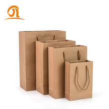 Handmade Custom Natural Brown Kraft Shopping Gift <strong>Paper</strong> Carry Bag With Handle