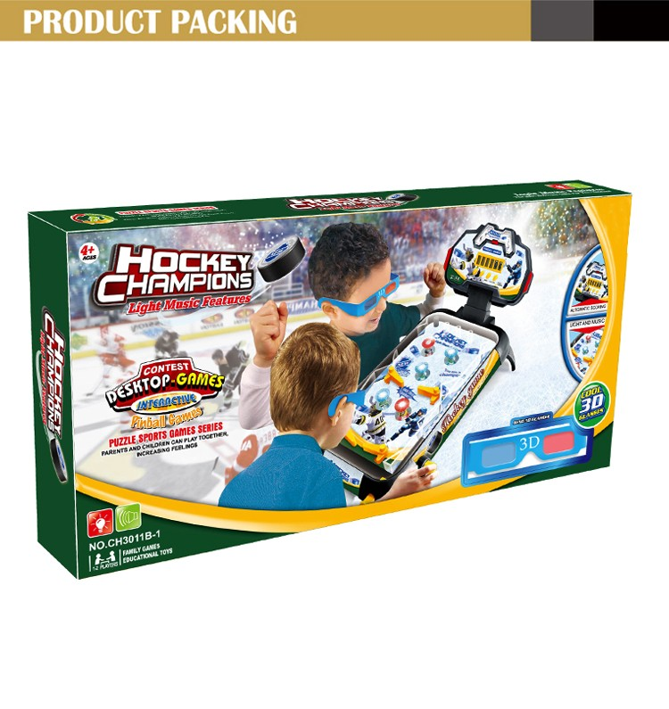 2016 New educational toys for kids hockey pinball with light and music