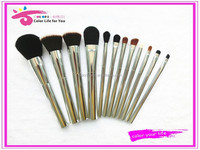 2015 latest metal make up brushes 12pcs synthetic makeup brush set factory direct