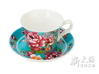 Shin Tai Yuan, Ceramic Coffee Cup Sets, 230ml peony designed ceramic cup
