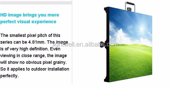 2016 lightwell P3.91 P4.81 led display panel with 500 * 500mm 500*1000 indoor & outdoor led display cabinet