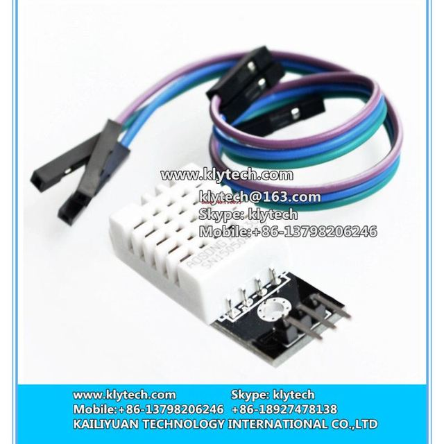 hot sale 10sets DHT22 Digital Temperature and Humidity Sensor AM2302+PCB eith Cable Module Dropshipping DIY