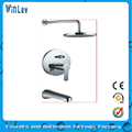 Three parts nice chrome wall mounted faucet mixer (include showerhead concealed faucet)