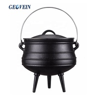 South Africa Cast Iron Cookware 1/4 Cast Iron Potjie Pot with three legs for camping