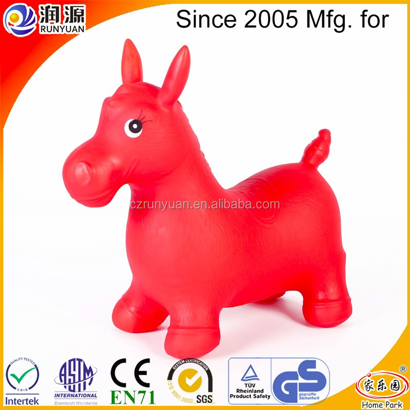 skipping horse with eco-friendly PVC inflatable bouncing horse for children Christmas gift normal hopping animal