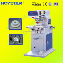 China pnumatic 1 color pad printing machinery for key chain pen cap logo