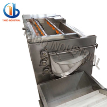 SUS304 potato chips cleaning peeling and cutting machine,potato washing and peeling machine
