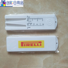 plastic tire tread depth gauge with keychain for promotional