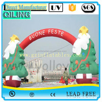 2016 QiLing Christmas Inflatable Arch, Inflatable Christmas Decorations Arch