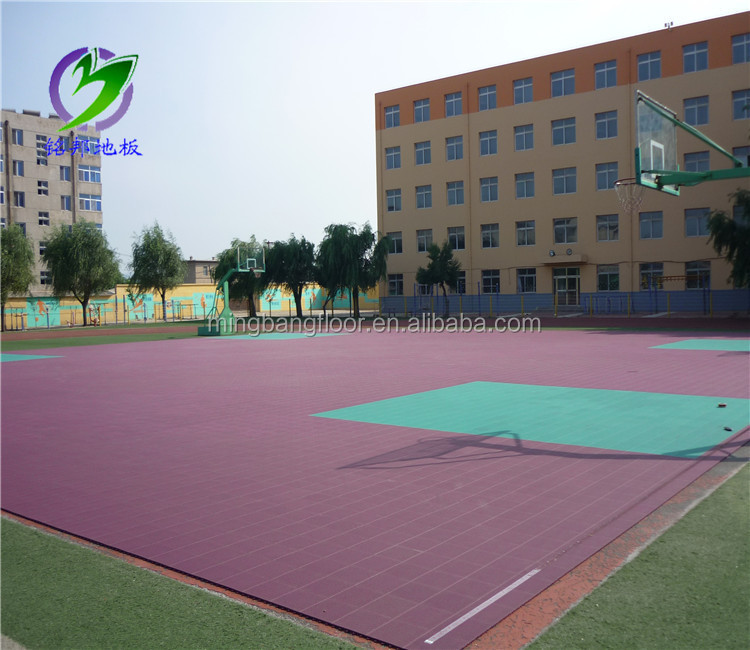 High Quality Outdoor used polyurethane Sports Flooring