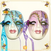 Luxury party decoration painted ceramic mask
