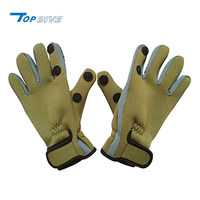 Soft and lightweight waterproof neoprene fishing glove with slit fingers