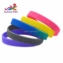 Hot sale silicone bracelet /wristbands Debossed logo ,Magnetic Bracelet with competitive price