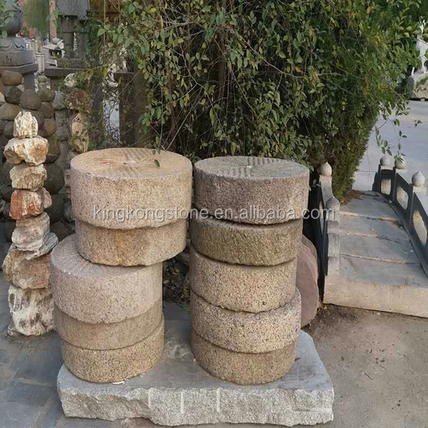 Factory cheap price old granite millstones with customized size