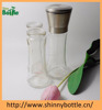 180ml hand-operated glass salt and pepper grinder with ceremic mill