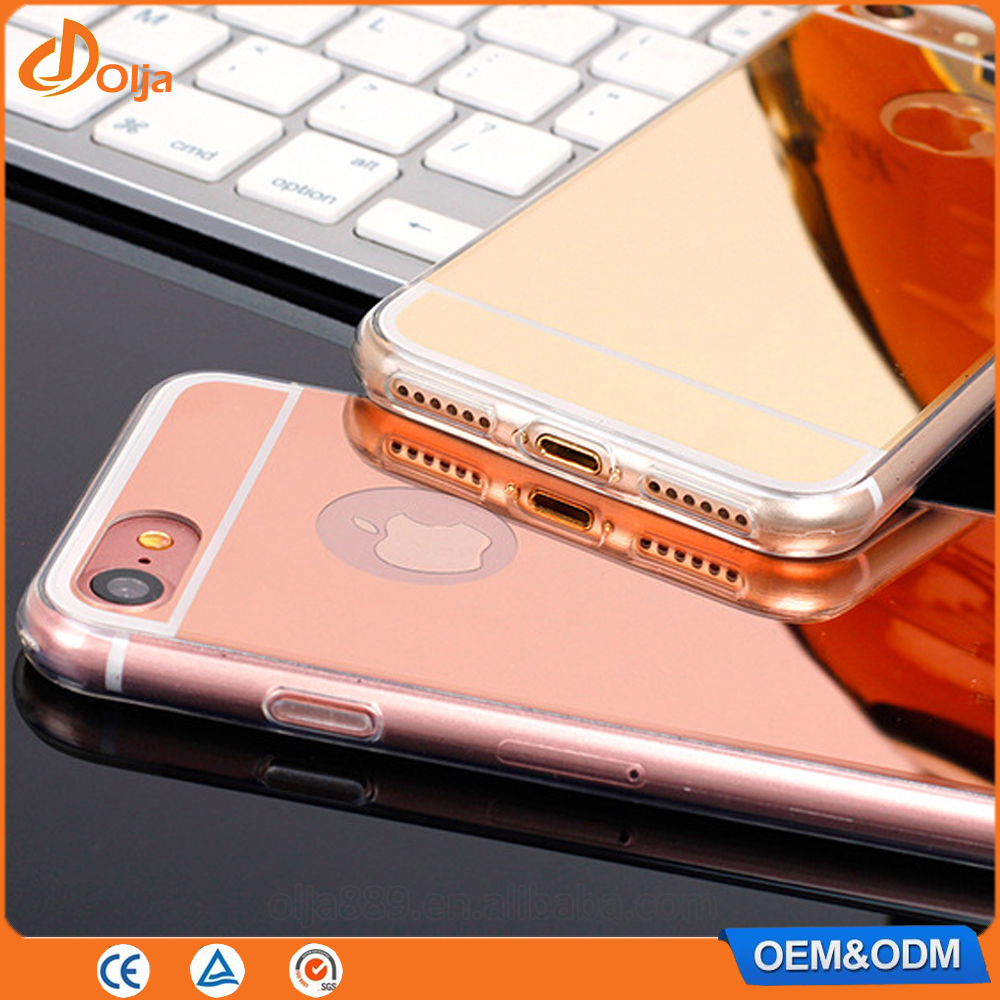 Mobile phone case decorative mirror effect back cover case for samsung galaxy j2 for iphone 7 case