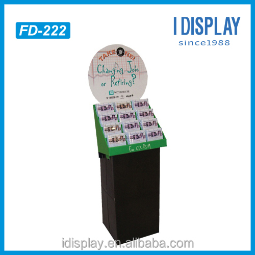 Advertising cardboard cosmetic store display stand for Lancome, foundation make up store display shelf