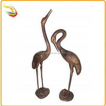 Home Decor Cast Metal Brass Crane Sculpture Statue for Sale