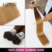 Wholesale virgin remy European hair ombre Two tone color pre bonded fusion Stick I tip extension