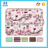 Pretty pattern printing durable shockproof neoprene laptop bag pouch