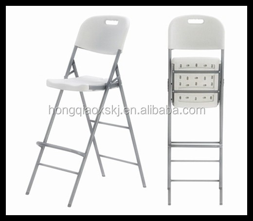 Plastic folding height bar chair, bar stools black folding chair,outdoor sun folding camping chair for chinese restaurant chairs