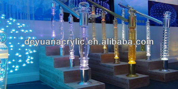 Cast colored transparent perspex curtain rod