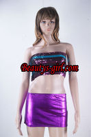 Hot Purple bling biling sequined Lady sexy lingerie shinny sexy nightwear very gorgeous bikini lingerie