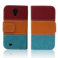 Hit Color Flip Leather Cover Case For Samsung Galaxy S4 I9500 Wallet Book Style Stand Holder