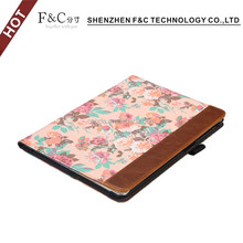 "sample accepted quality and fancy Character Pattern stand smart cover for iPad Pro 9.7"" Leather Look Fabric Case"