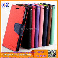 Luxury Leather Flip Cover Wallet Case For Sony Xperia C S39H C2305