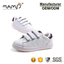 2014 newest style fashion hot design wholesale kids white canvas shoes