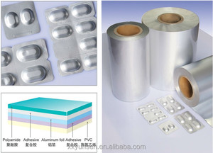 Competitive newest type capsule and tablets packaging pharmaceutical alu foil in roll