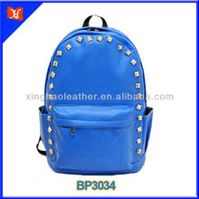 2014 chic style PU leather cool rivet design kids personalized backpack