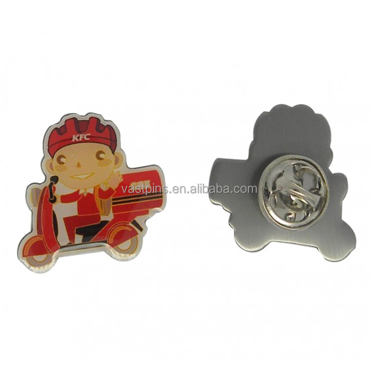 Promotional Offset Printed Animal Badges And Stainless Steel Lapel Pins