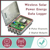 GPRS/GPS waterproof Wireless Solar Power temperature data logger wireless