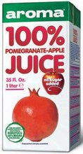 Aroma 100% Natural Pomegranate and Apple Juice