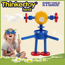 < Thinkertoy>2016 new arrivals kids educational plastic toys robot safe durable ABS material toy