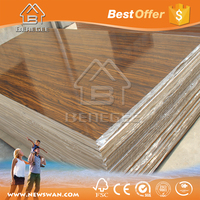 Wood Grain UV MDF / UV MDF with Flower Design / UV MDF Dubai