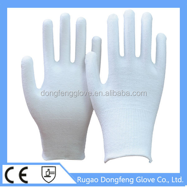 13 Gauge Knitted Polyester Fiber High Impact Protective Gloves For Construction