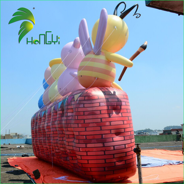 Huge Customize Advertiding Inflatable Wall Model For Event